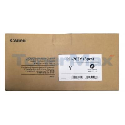 CANON PFI-703Y INK TANK DYE YELLOW